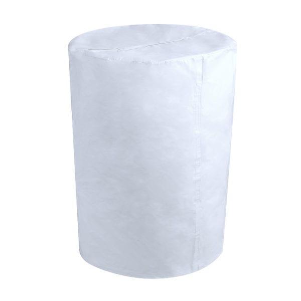 Barrel Cover White Vinyl